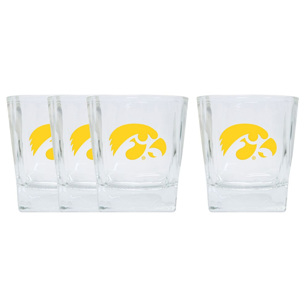 Iowa Hawkeyes 4-Pack Short Tumbler Glasses