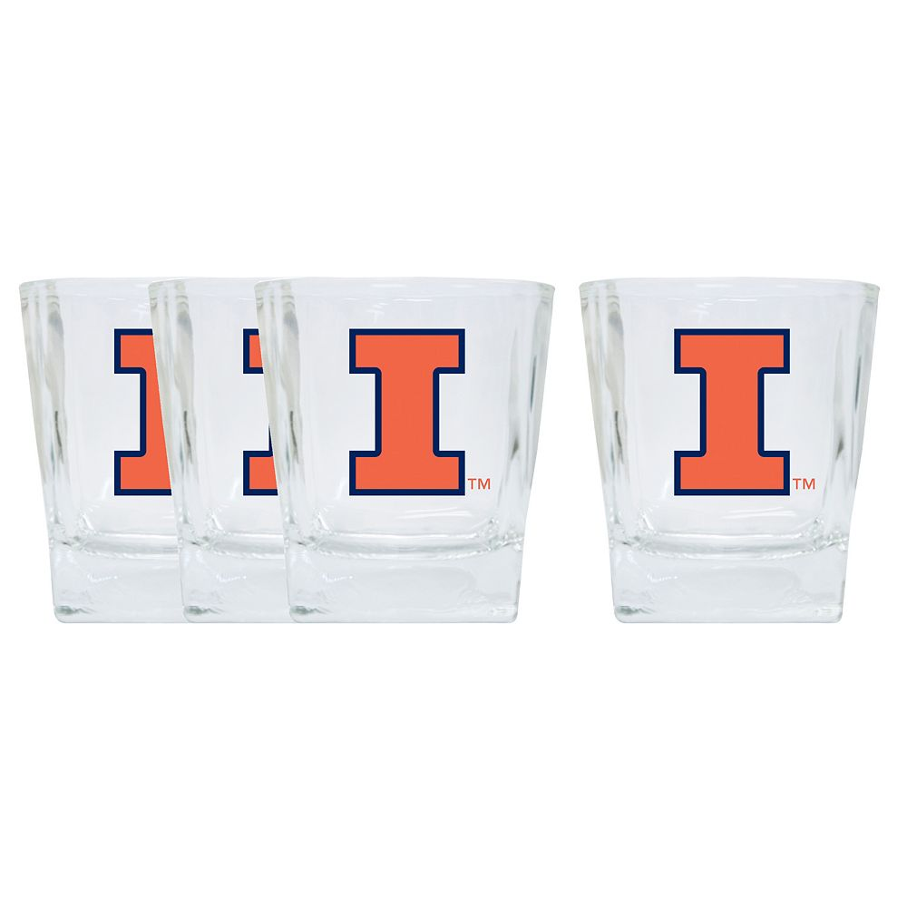 Illinois Fighting Illini 4-Pack Short Tumbler Glasses