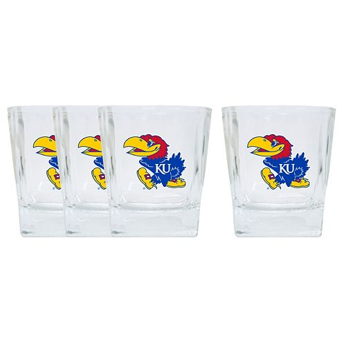 Kansas Jayhawks 4-Pack Short Tumbler Glasses