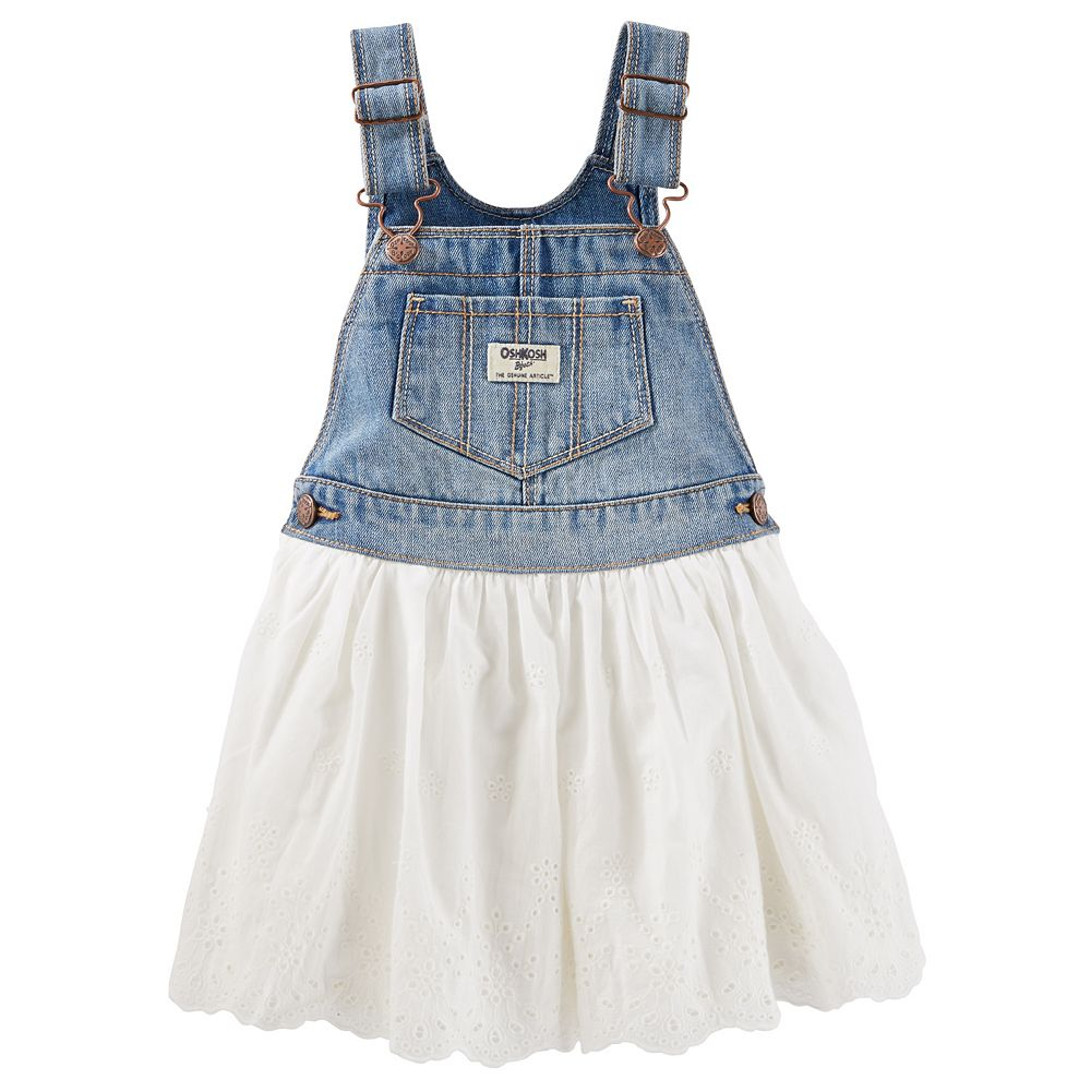 Baby Girl OshKosh B'gosh® Eyelet Denim Jumper