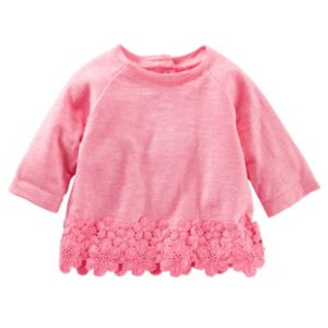 Baby Girl OshKosh B'gosh® Crocheted Slubbed Top