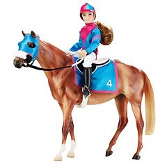 Breyer Traditional Series Let's Go Racing Model Horse & Doll