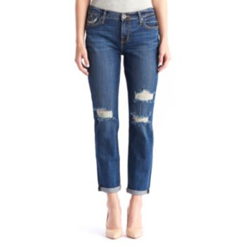 Women's Rock & Republic® Indee Ripped Embroidered Boyfriend Jeans