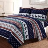 Deer Valley 3-piece Twill Flannel Printed Duvet Cover Set