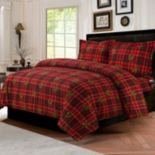Vintage Plaid 3-piece Flannel Printed Duvet Cover Set