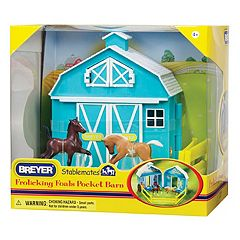 Breyer Stablemates Frolicking Foals Pocket Barn