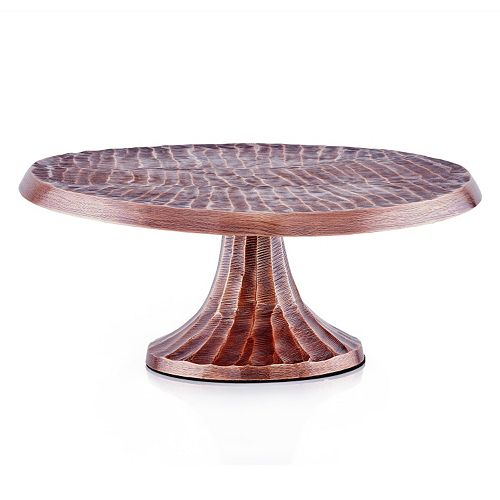 Old Dutch Tribal Antique Copper Finish Cake Stand