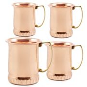 Old Dutch 4 pc Solid Copper Moscow Mule Mug Set