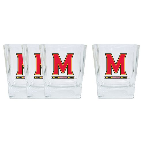 Maryland Terrapins 4-Pack Short Tumbler Glasses