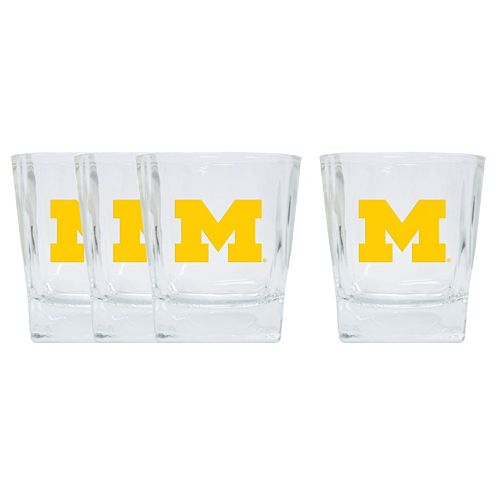 Michigan Wolverines 4-Pack Short Tumbler Glasses
