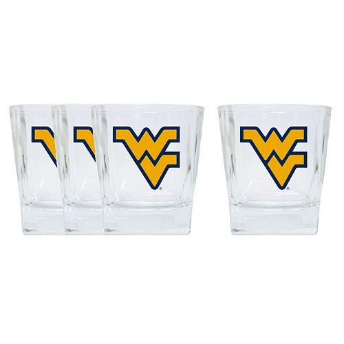 West Virginia Mountaineers 4-Pack Short Tumbler Glasses