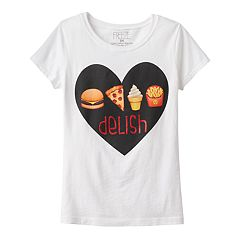 Girls 4-6x Emoji 'Delish' Graphic Tee