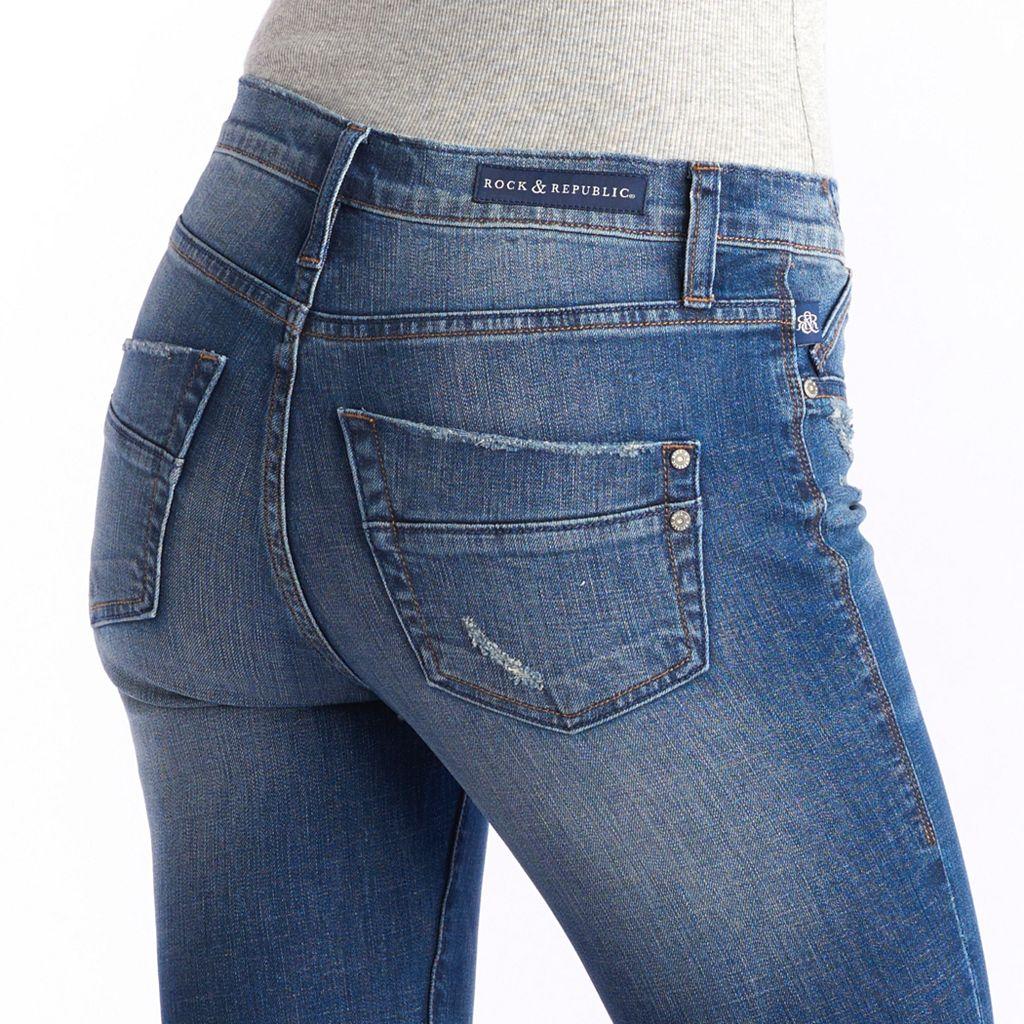Women's Rock & Republic® Kashmiere Frayed Crop Skinny Jeans