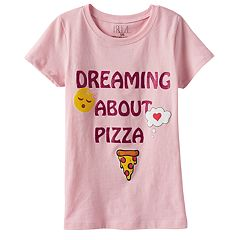 Girls 4-6x Emoji 'Dreaming About Pizza' Graphic Tee
