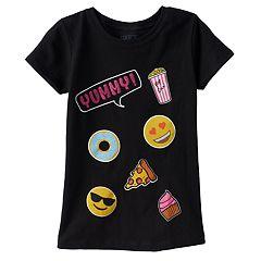 Girls 4-6x Emoji 'Yummy' Graphic Tee