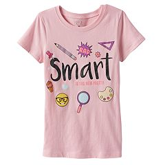 Girls 4-6x Emoji 'Smart is the New Pretty' Graphic Tee