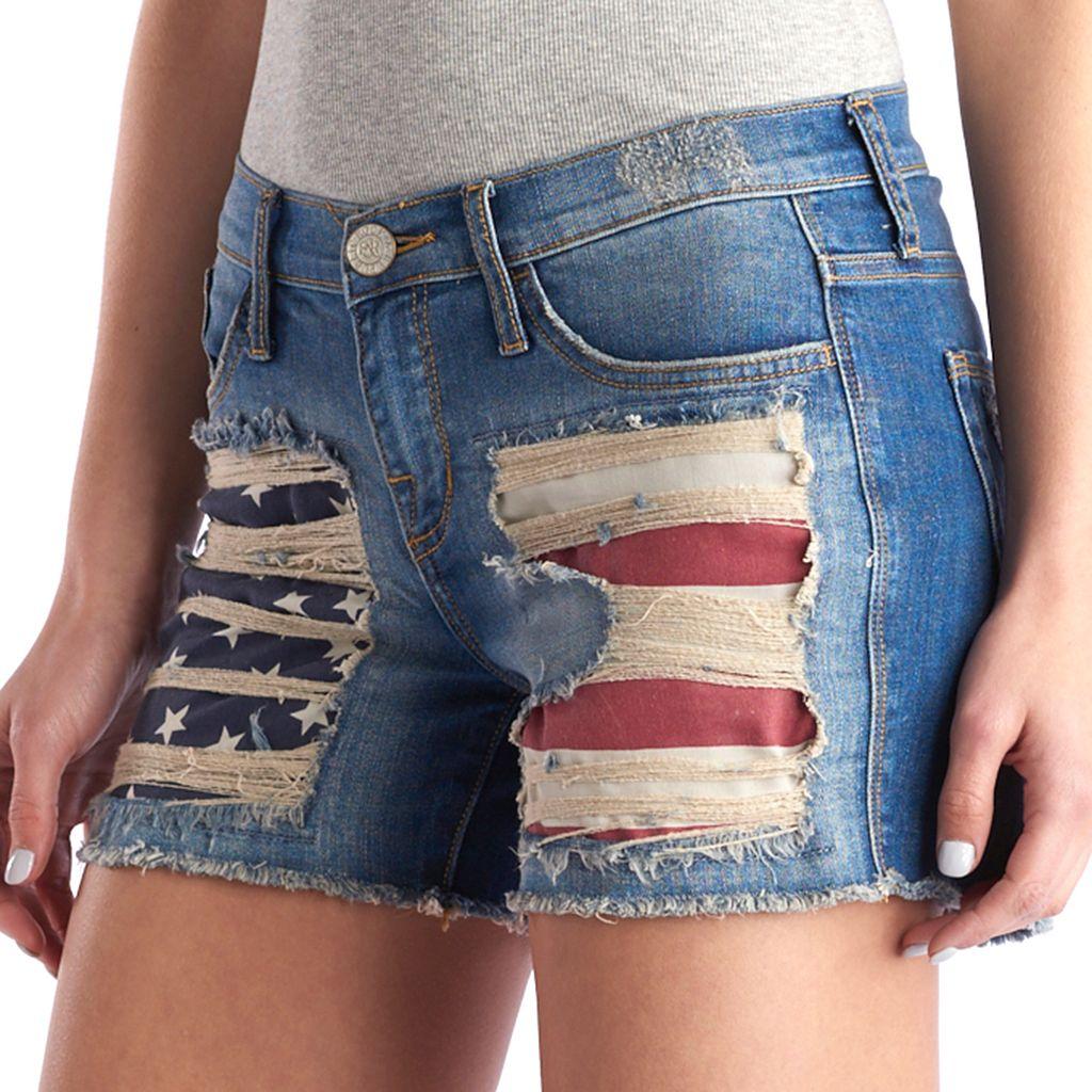 Women's Rock & Republic® Hula Flag Jean Shorts