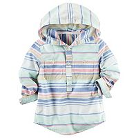 Boys 4-8 Carter's Hooded Half-Button Striped Shirt