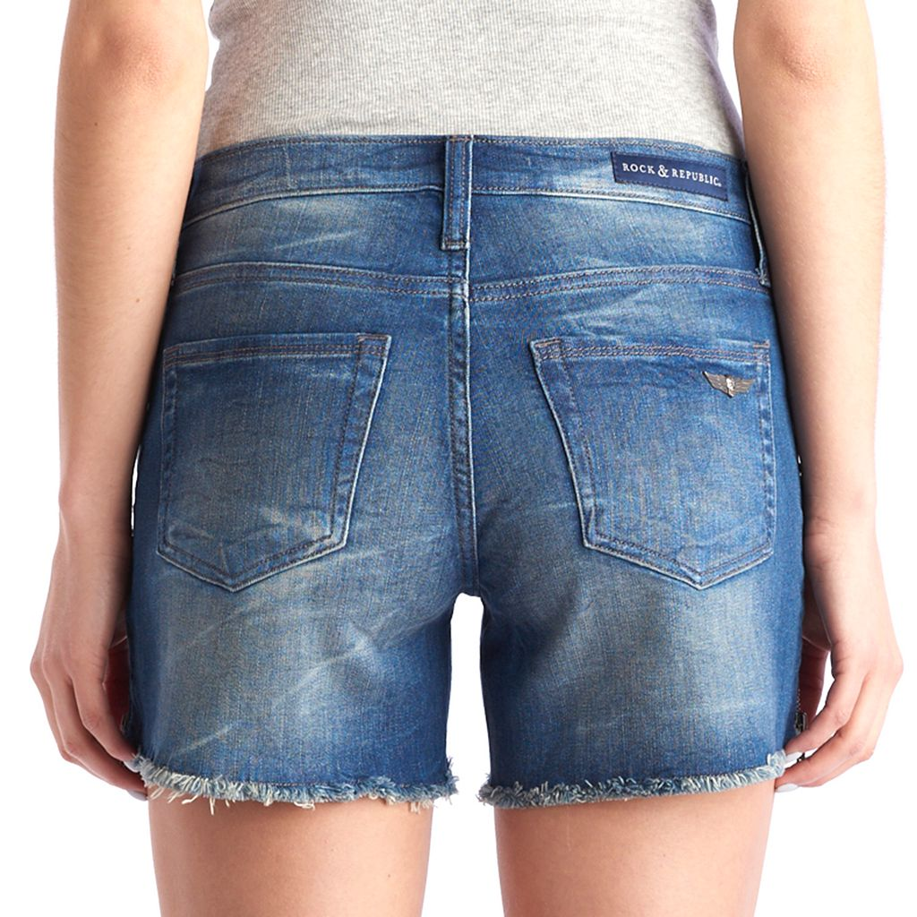 Women's Rock & Republic® Hula Zipper Accent Jean Shorts