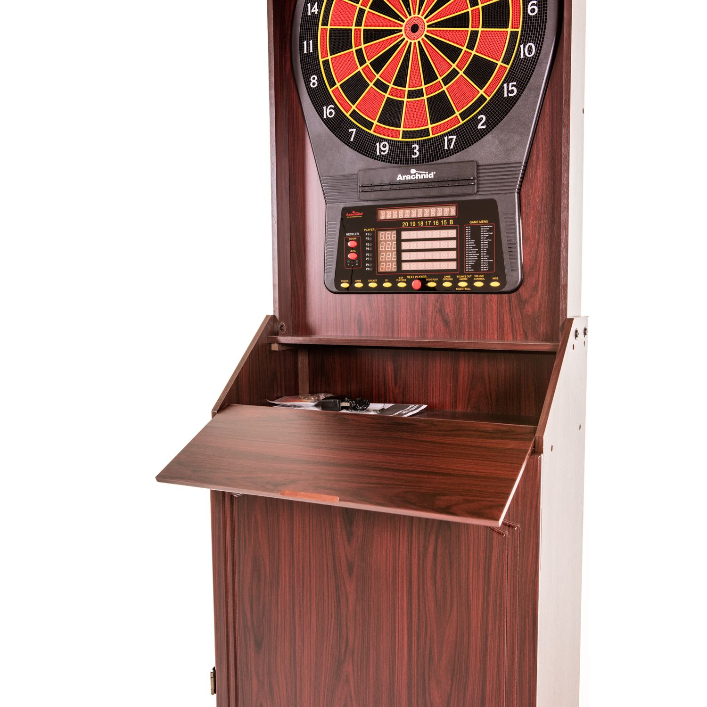 Arachnid Arcade Stand Up Cabinet U0026 Cricket Pro 800 Electronic Dartboard Set