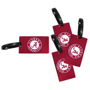 Alabama Crimson Tide 4-Pack Luggage Tag Set