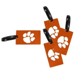 Clemson Tigers 4-Pack Luggage Tag Set