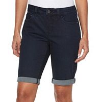 Women's Croft & Barrow® Cuffed Jean Bermuda Shorts