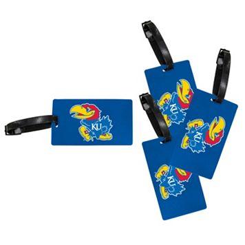 Kansas Jayhawks 4-Pack Luggage Tag Set