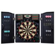 Bullshooter E-Bristle 1000 Steel & Soft Tip Electronic Dartboard & Cabinet Set