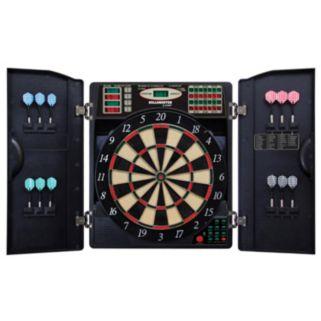Bullshooter E-Bristle 1000 Steel & Soft Tip Electronic Dartboard & Cabinet Set