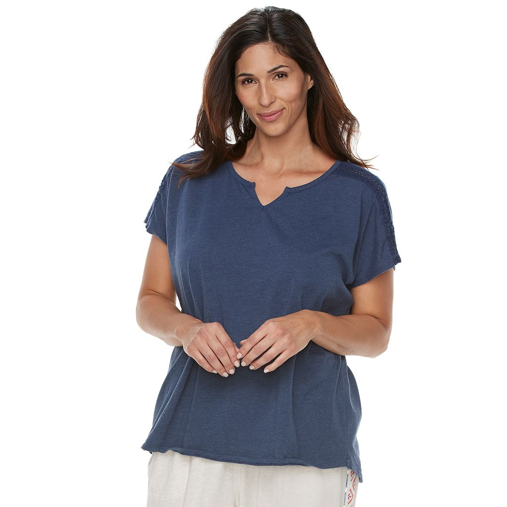 Plus Size SONOMA Goods for Life™ Mix & Match Pajamas: Notch Neck Tee