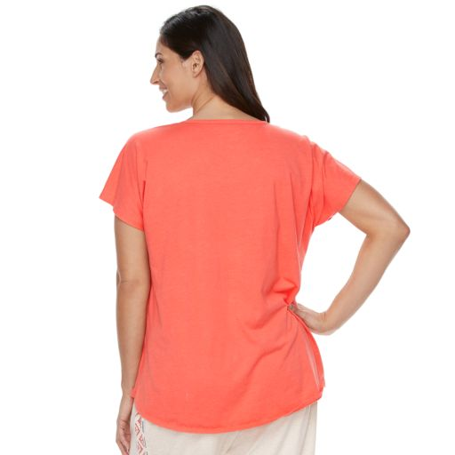 Plus Size SONOMA Goods for Life™ Mix & Match Pajamas: Notch Neck Tee