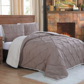 Avalanche 3-piece Pleated Sherpa Comforter Set