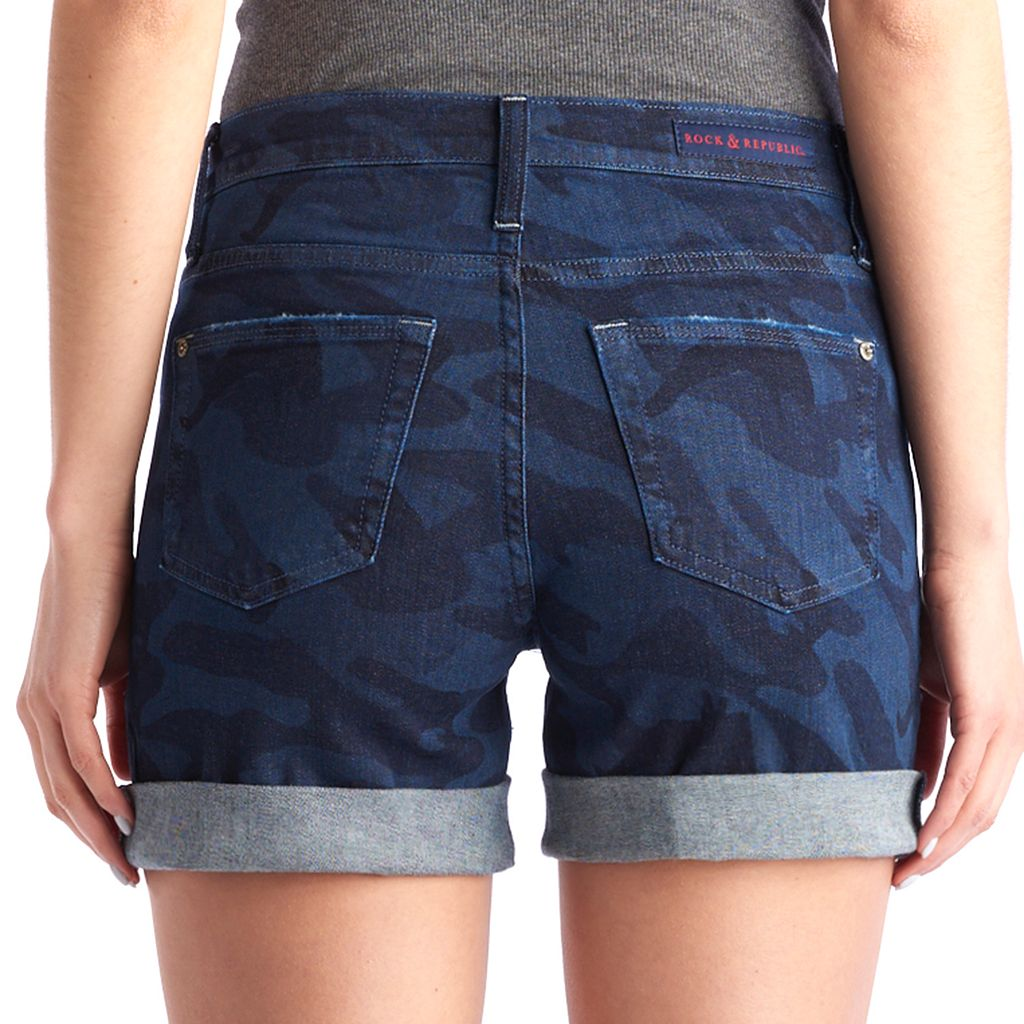 Women's Rock & Republic® Bumpershoot Camo Jean Shorts