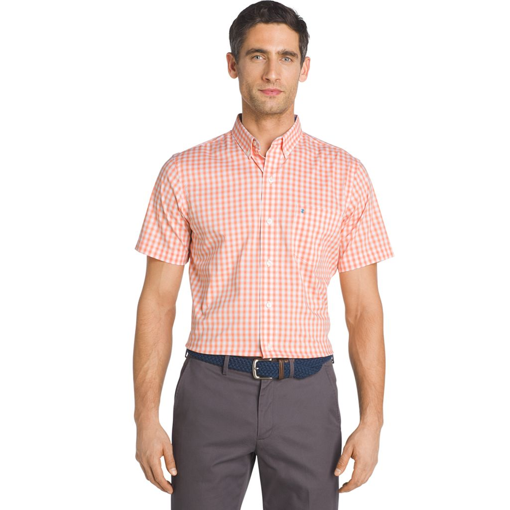 Men's IZOD Advantage Gingham Button-Down Shirt
