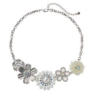 Croft & Barrow® Asymmetrical Flower Statement Necklace