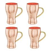 Old Dutch 4 pc Hammered Copper Soda Fountain-Style Moscow Mule Mug Set