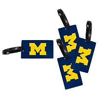 Michigan Wolverines 4-Pack Luggage Tag Set