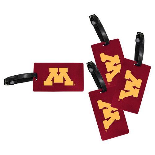 Minnesota Golden Gophers 4-Pack Luggage Tag Set
