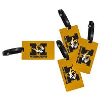 Missouri Tigers 4-Pack Luggage Tag Set
