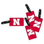Nebraska Cornhuskers 4-Pack Luggage Tag Set