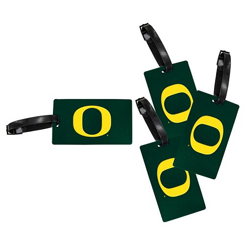 Oregon Ducks 4-Pack Luggage Tag Set