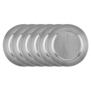 Old Dutch 6-pc. Stainless Steel Charger Plate Set