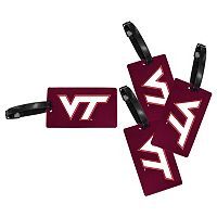 Virginia Tech Hokies 4-Pack Luggage Tag Set