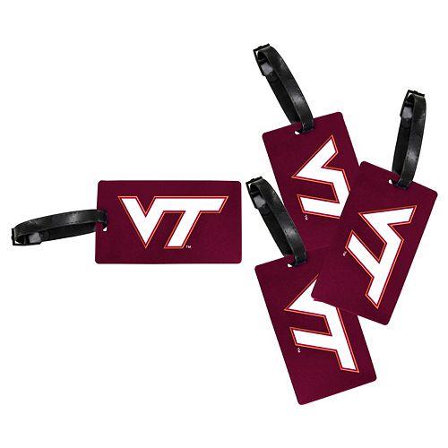 Virginia Tech Hokies 4-Pack Luggage Tag Set