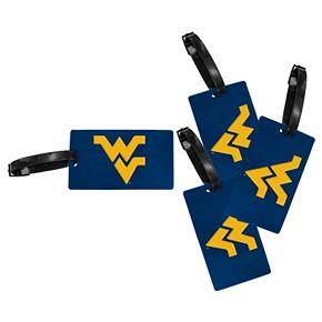 West Virginia Mountaineers 4-Pack Luggage Tag Set