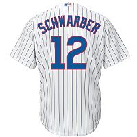Men's Majestic Chicago Cubs Kyle Schwarber Cool Base Replica Jersey
