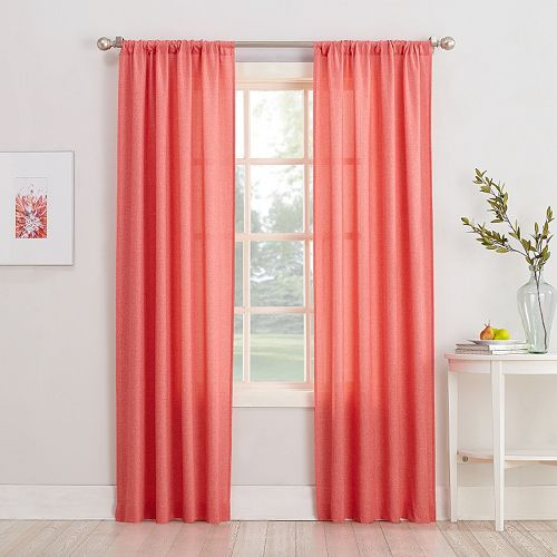 No. 918 1-Panel Rapture Heathered Semi-Sheer Window Curtain