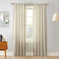 No 918 1-Panel Rapture Heathered Semi-Sheer Window Curtain