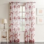 No. 918 Kiki Floral Crushed Sheer Voile Curtain